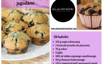 Orkiszowe muffiny z jagodami – łatwa fit przekąska